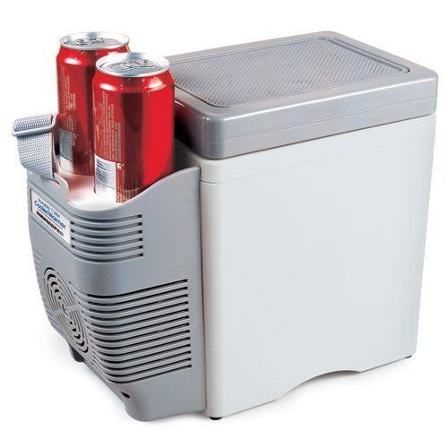 Portable Electric Cooler 12 Volt Travel Ice Chest Truck Cup Holder
