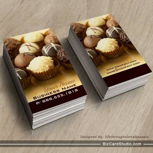 Chocolate Truffles Business Cards Bakery Business Cards Business Cards Truffles