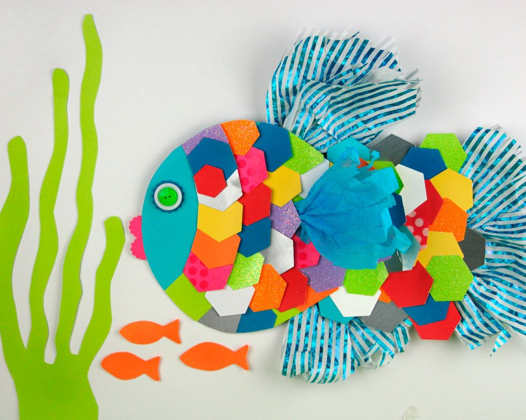 Animal paper crafts with scraps simple shapes craft and for Art and craft with paper easy