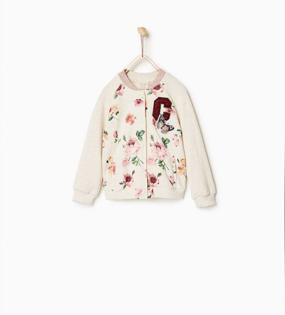 Image 1 of Floral bomber jacket from Zara