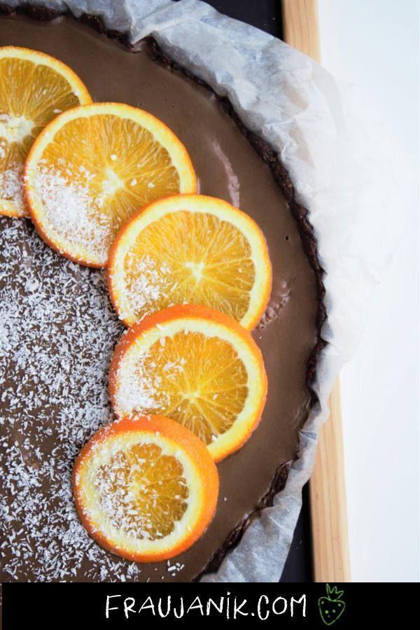 Schoko Orangen Tarte Tarte Vegan Gesunde Desserts Gesund Backen