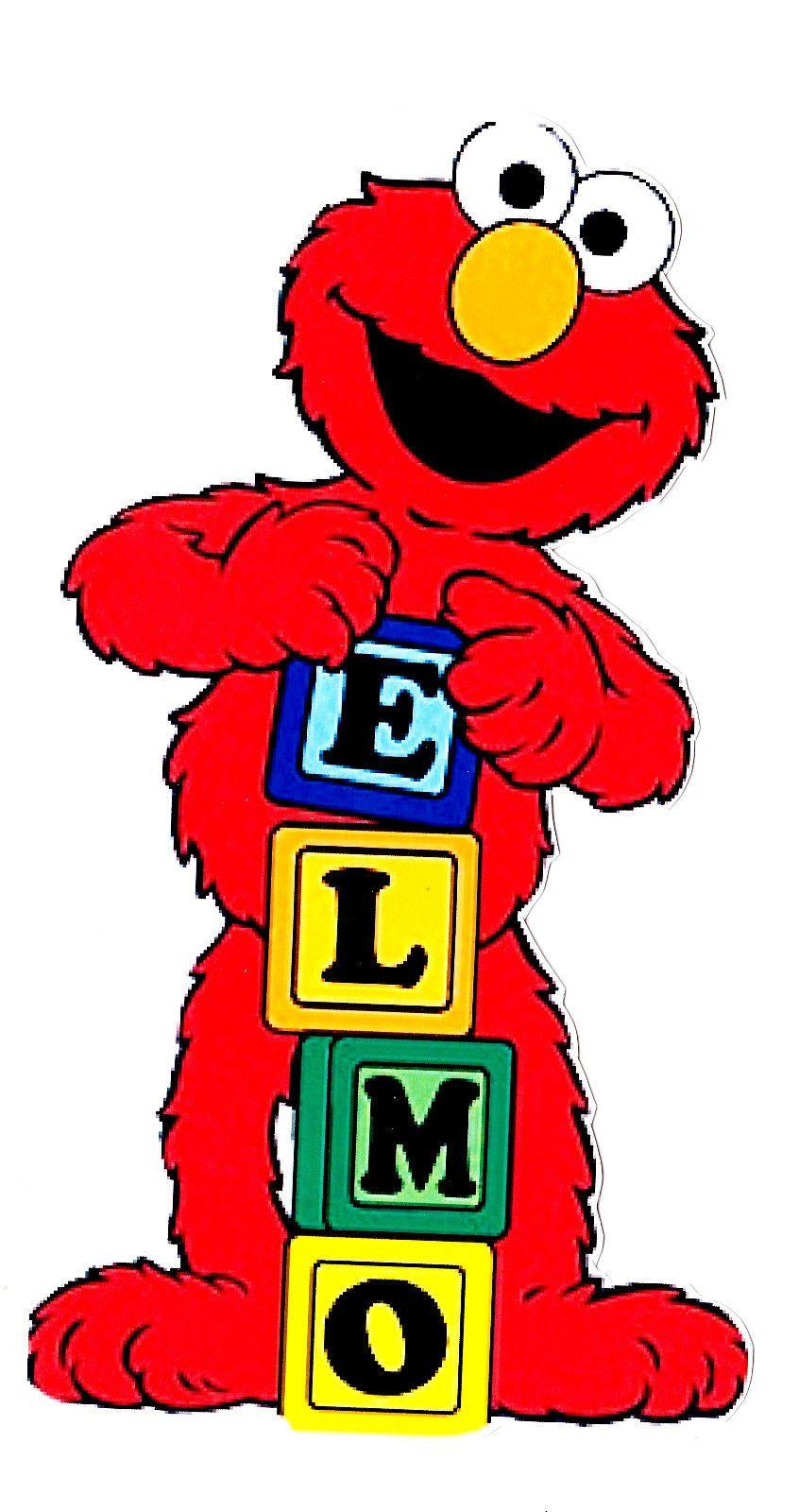 4 49 6 5 Quot 10 5 Quot Sesame Street Elmo Wall Sticker Glossy