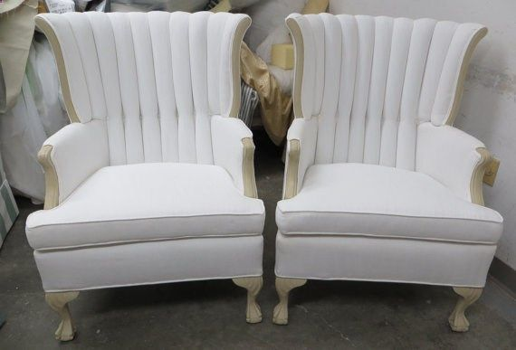 This wonderful set of chairs feature great carved woodwork and is