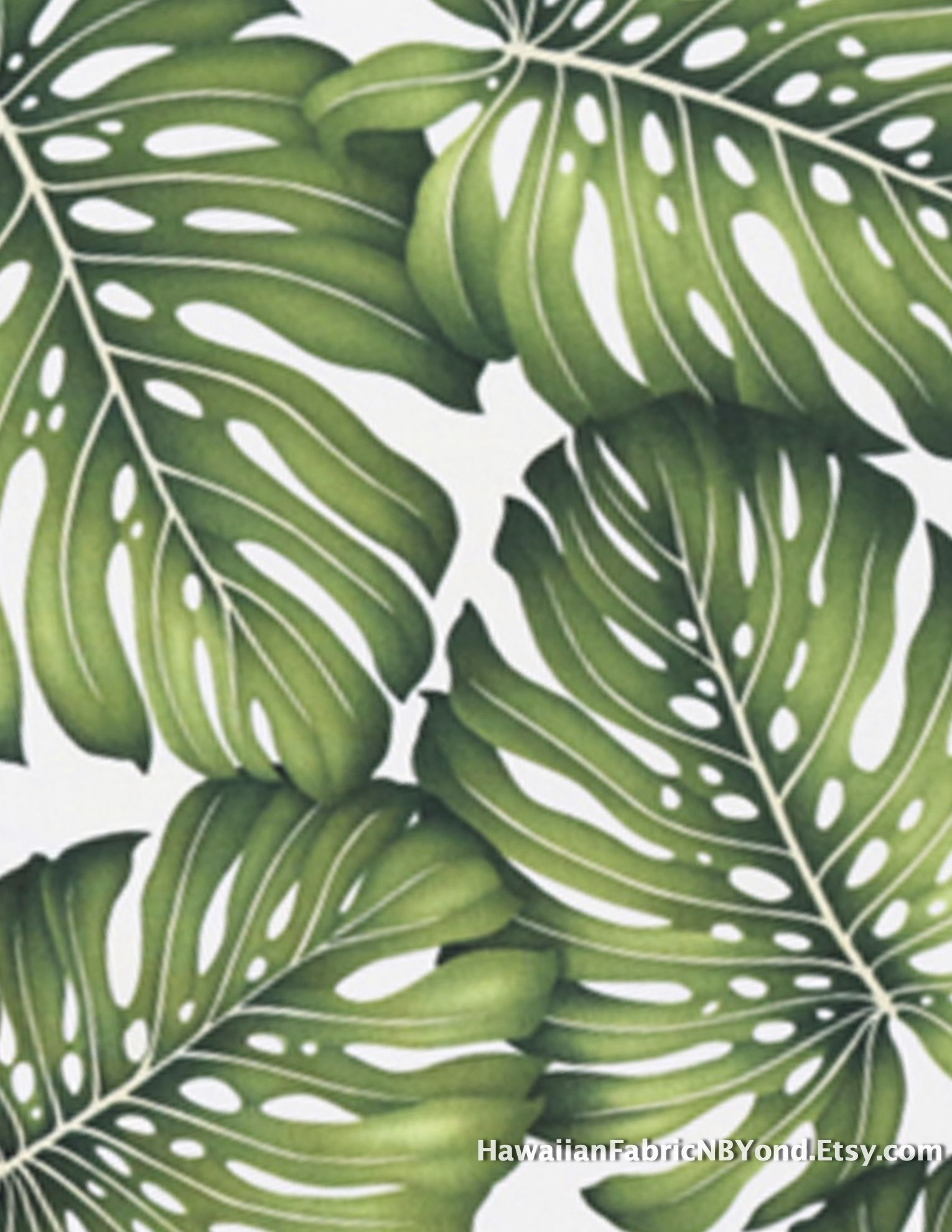 Remnant Sale! Tropical leaf fabric. By ... - photo#37