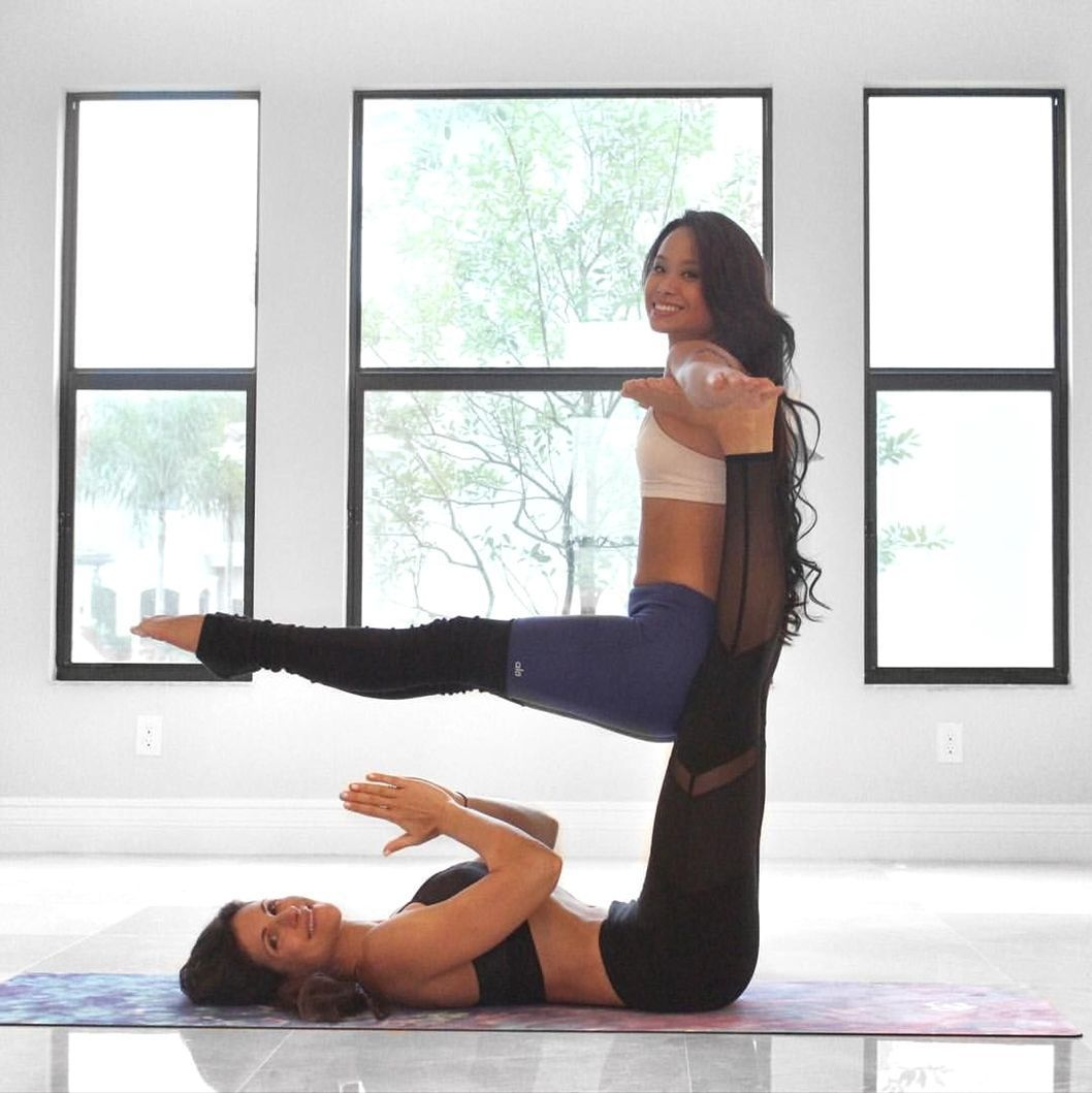Two Person Yoga Poses Advanced