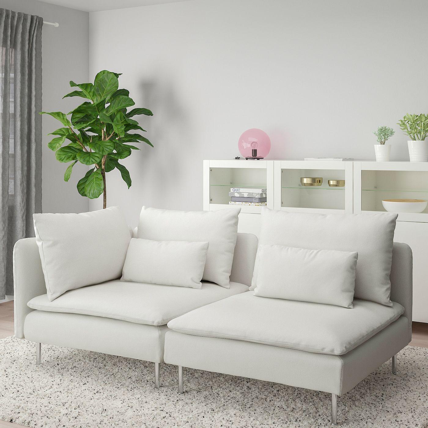 Soderhamn 3er Sofa Ohne Abschluss Finnsta Weiss Ikea Osterreich In 2020 Ikea Comfortable Sofa Bed Slats