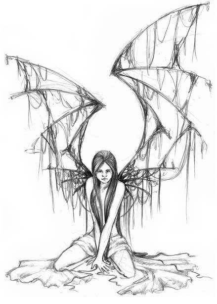 Free Gothic Angel Tattoo Design Tattoobite Com Fairy Tattoo Gothic Fairy Tattoo Angel Drawing