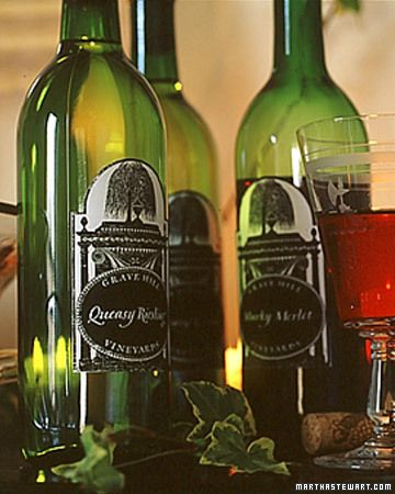 Cast a spell on your wine with creative bottle labels.How to Make the Halloween…