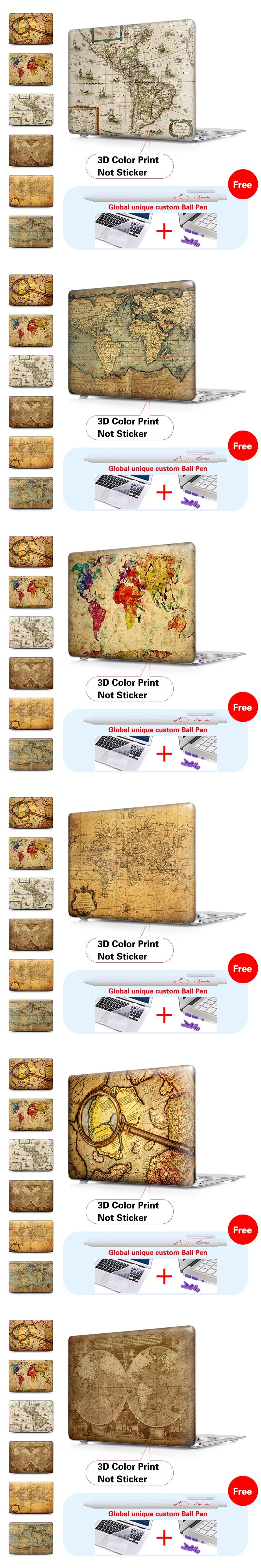 Old world map matte hard case for macbook air 11 air 13 pr laptop old world map matte hard case for macbook air 11 air 13 pro 15 pro retina gumiabroncs Gallery