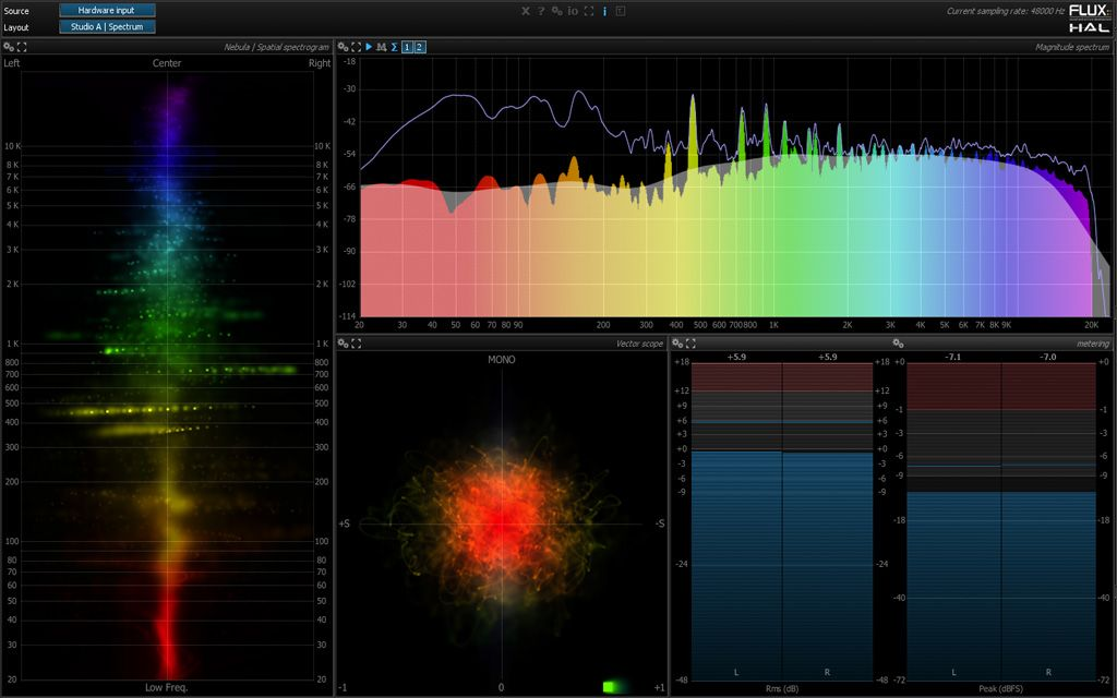 Pure Analyzer Essential RTA plug-in from Flux #audiounits