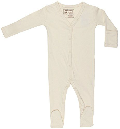 Maple Clothing Organic Cotton Baby Pants Footed GOTS Certified Clothes