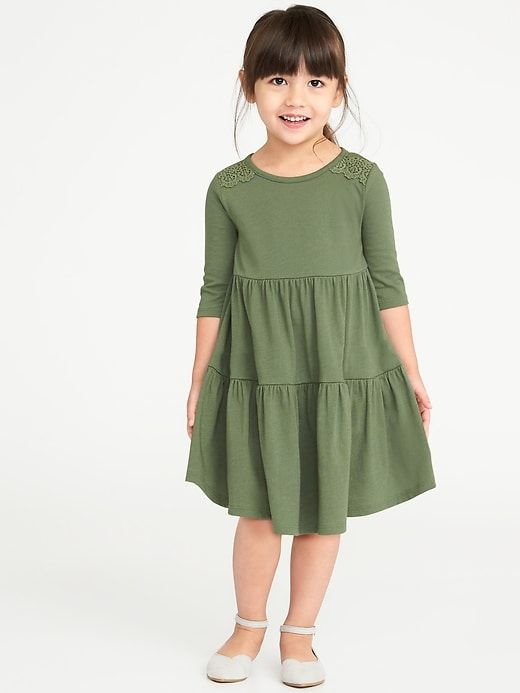 4b0745221d18 Tiered Jersey Swing Dress for Toddler Girls