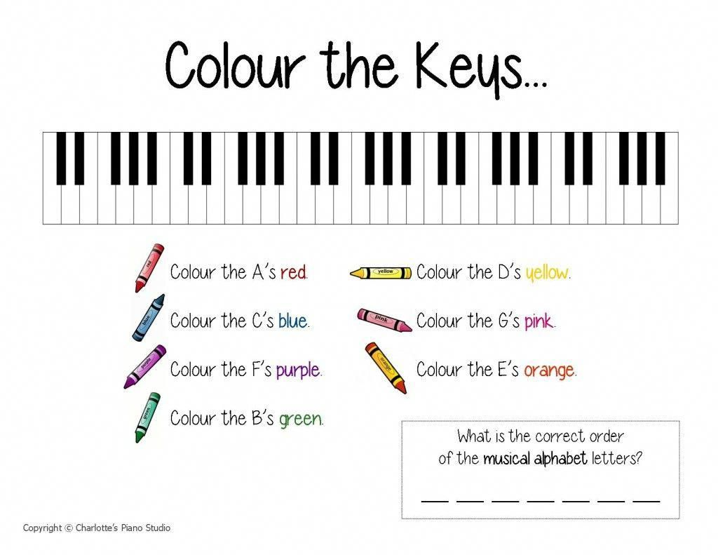 Beginning Piano Worksheets