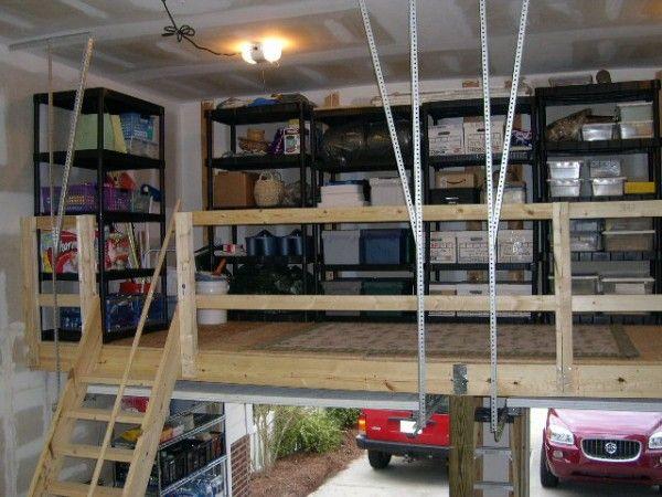 Garage design with loft garage storage pinterest for Idee loft garage