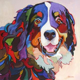 Daily Painting, Say Cheese, contemporary dog painting, painting by ...