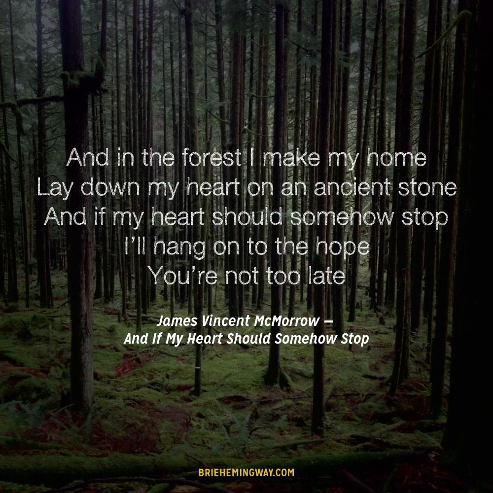 And In The Forest I Make My Home Lay Down My Hearth On An Ancient