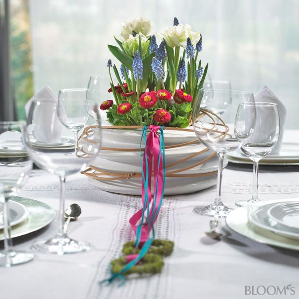 Tischdeko frühling  Tischdeko Frühling 4   Frühling   Pinterest   Tischdeko frühling ...