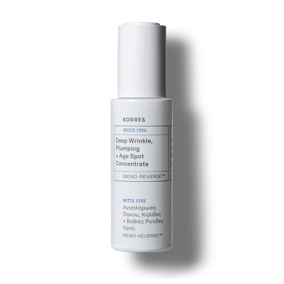 Shop White Pine Meno Reverse Deep Wrinkle Plumping Age Spot Concentrate Post Menopausal Skincare Korres In 2020 Deep Wrinkles Plumping Korres