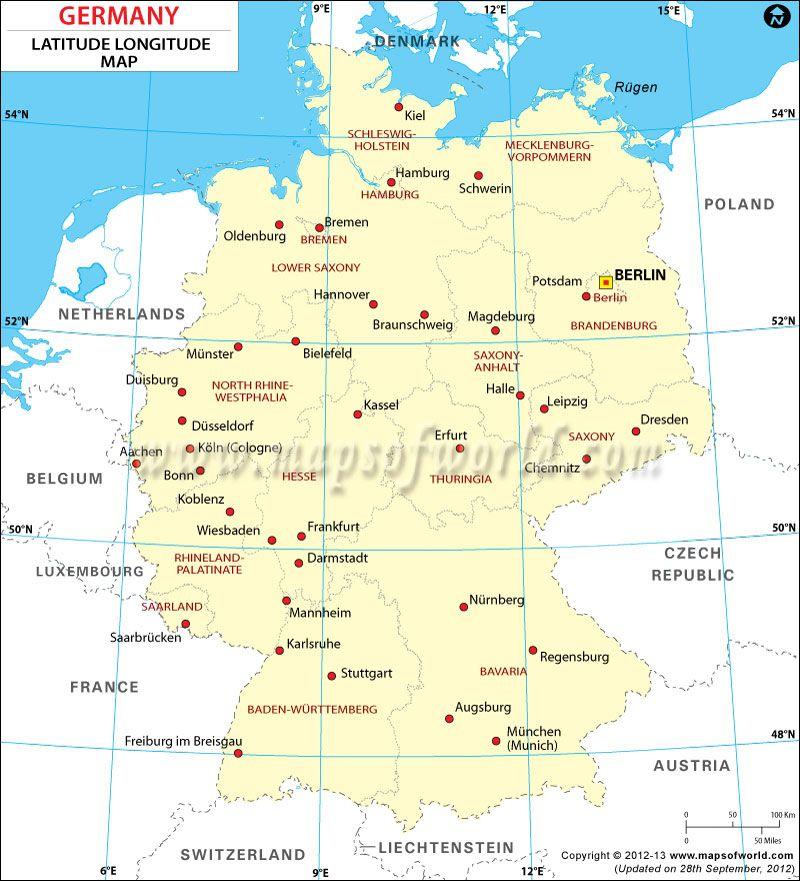 Germany Latitude And Longitude Map Oregon Wine Country