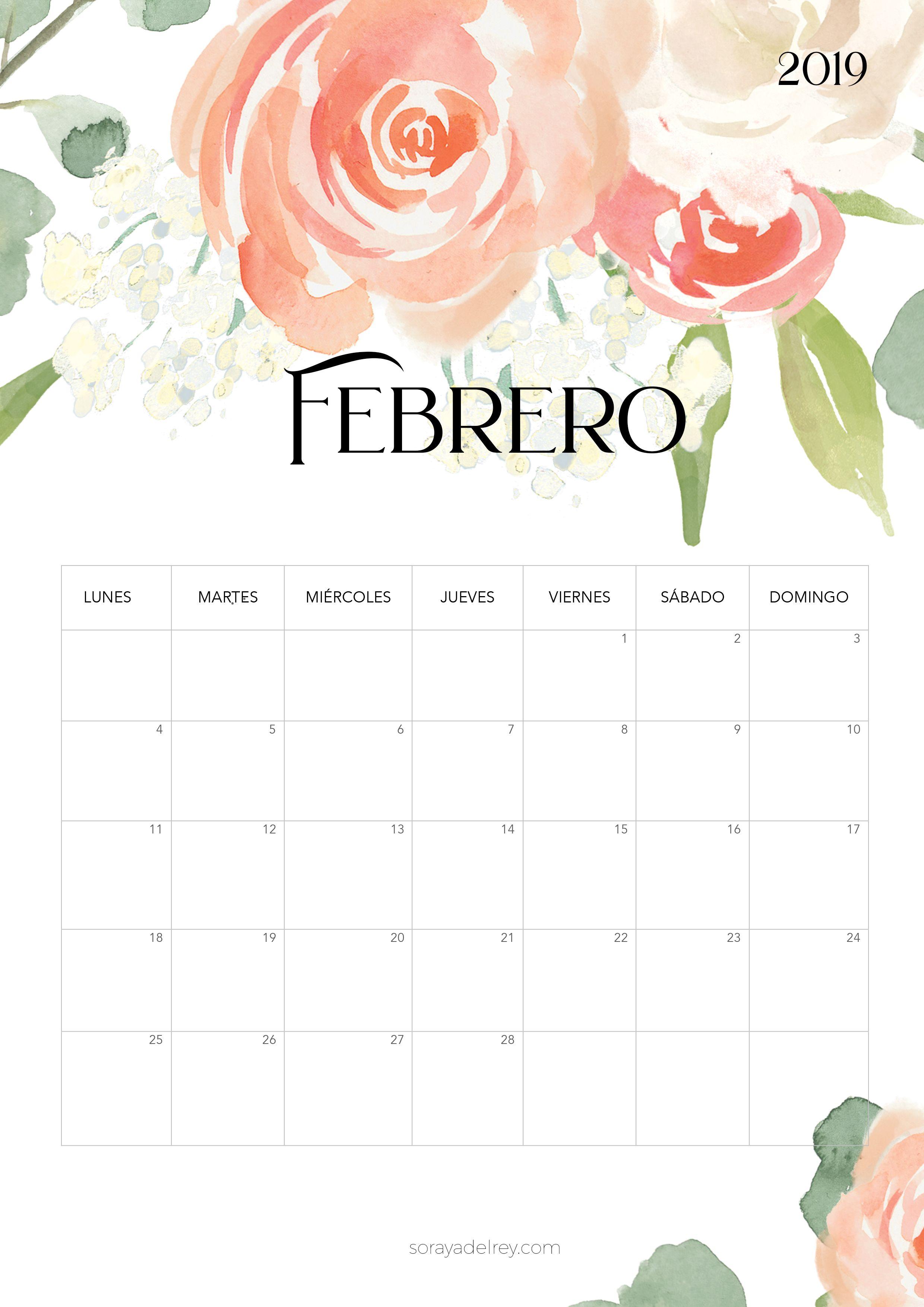 Calendarios De February De 2020 Bonitos Calendario para imprimir 2018   2019   agenda   Calendario para