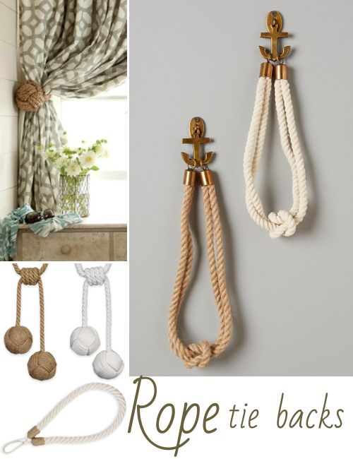 Photo of Nautical Rope Curtain Tie Back Ideas | Shop the Look