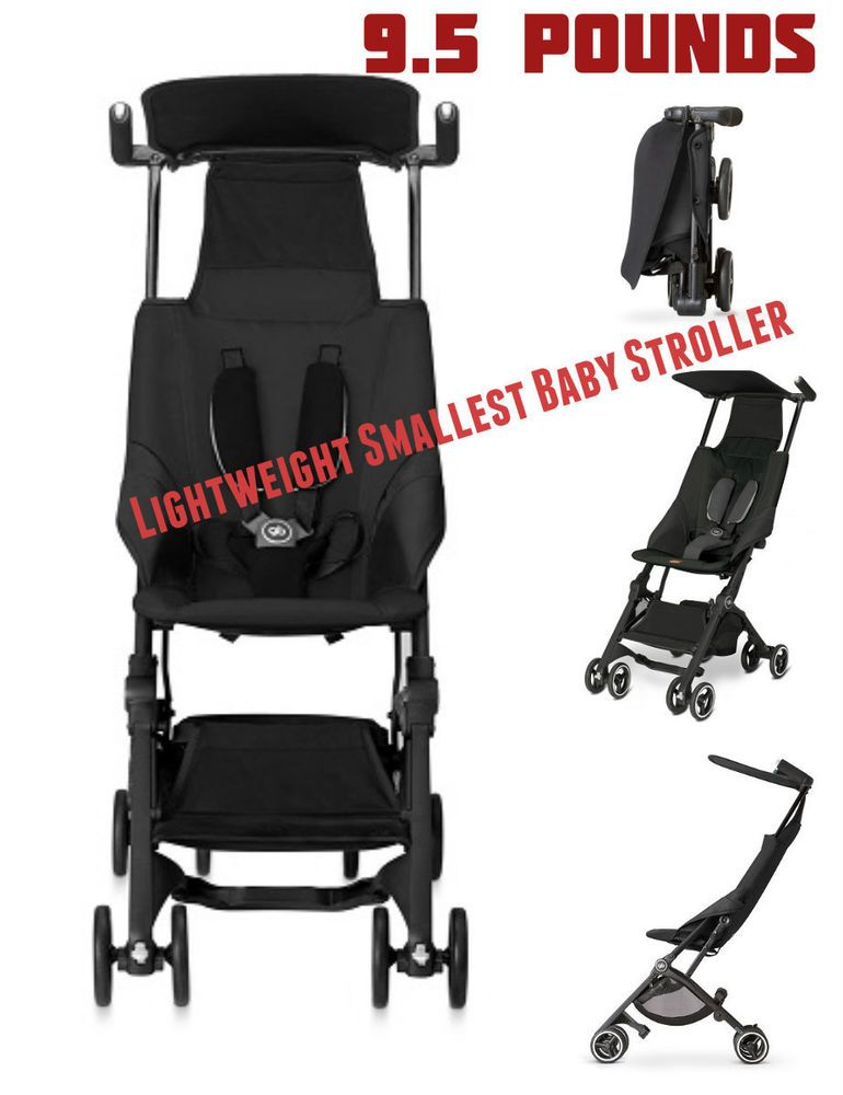 9.5 Pounds Pockit Lightweight Stroller Monument Black