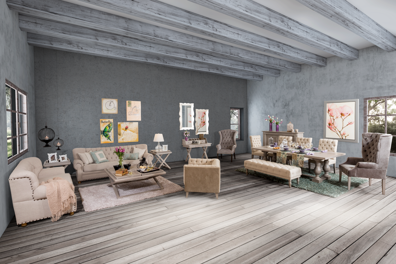 Sala y #Comedor estilo #Vintage (Sofá Naturea / Mesa central ...