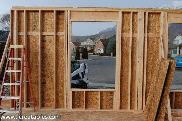 Framing A Exterior Wall Frame Interior Wall Frames On Wall