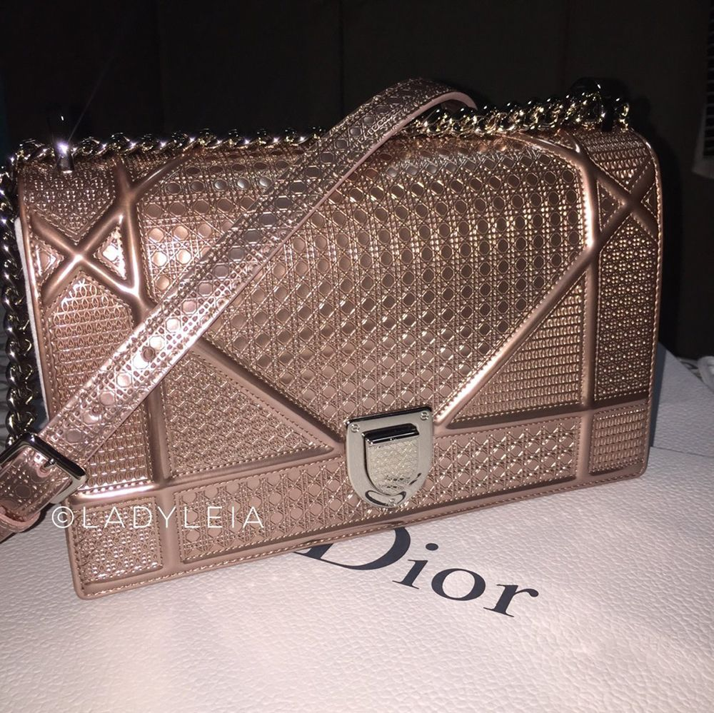 14e00165203b tPF Member  LadyLeia Bag  Dior Diorama Metallic Bag Dior Handbags