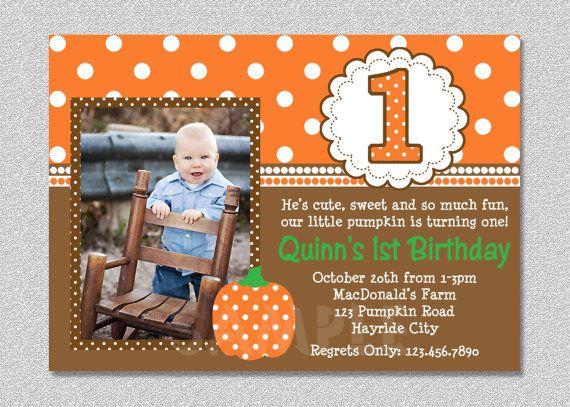 fall pumpkin birthday invitation pumpkin 1st by thetrendybutterfly