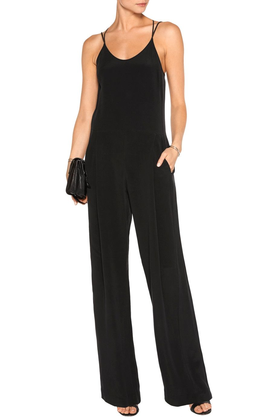Shop on-sale L'Agence Poppy brushed-silk jumpsuit. Browse other discount