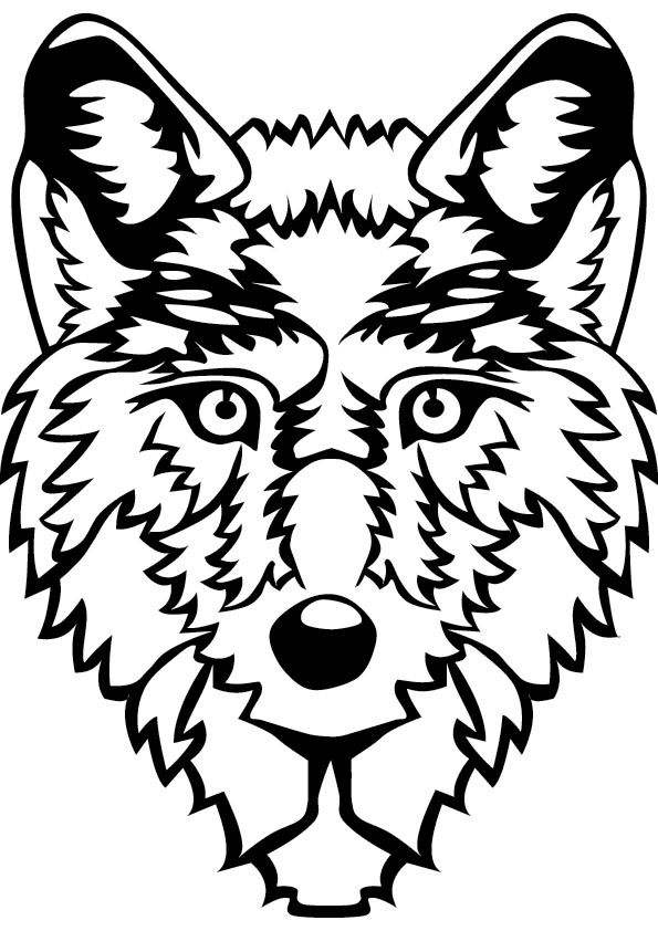 Printable Wolf Head Coloring Pages Images