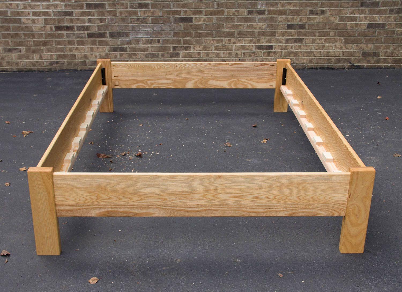 Ash Simple Bed Platform Bed Frame Solid Ash Hardwoods Slats