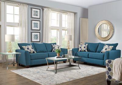 Bonita Springs Blue 7 Pc Living Room Living Room Suite Affordable Living Room Set Living Room Sets