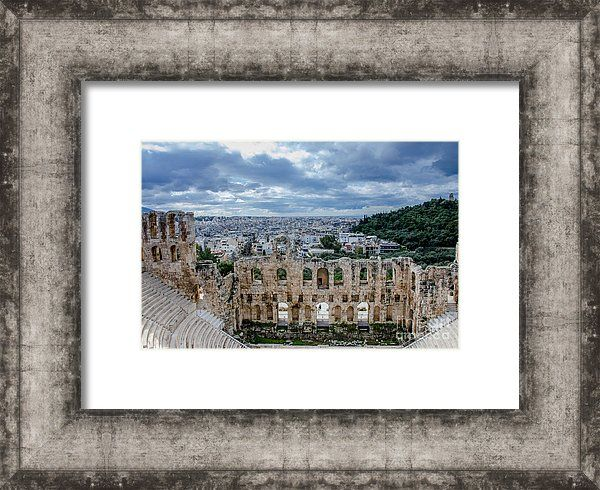 Odeon Of Herodes Atticus Athens Greece Framed Print By Debra Martz Framed Prints Athens Greece Frame