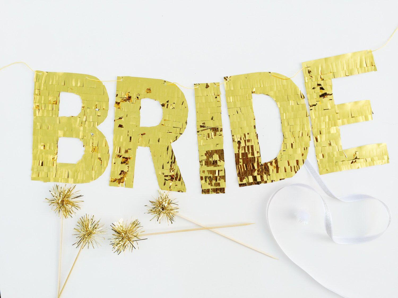FLAWLESS banner - gold fringe for bachelorette bridal shower ...