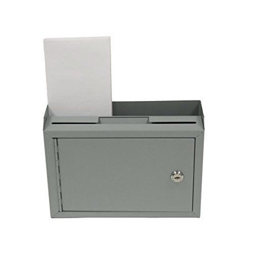 Suggestion Slot Drop Box Steel Safe Letter Mail Lock Wall Mount
