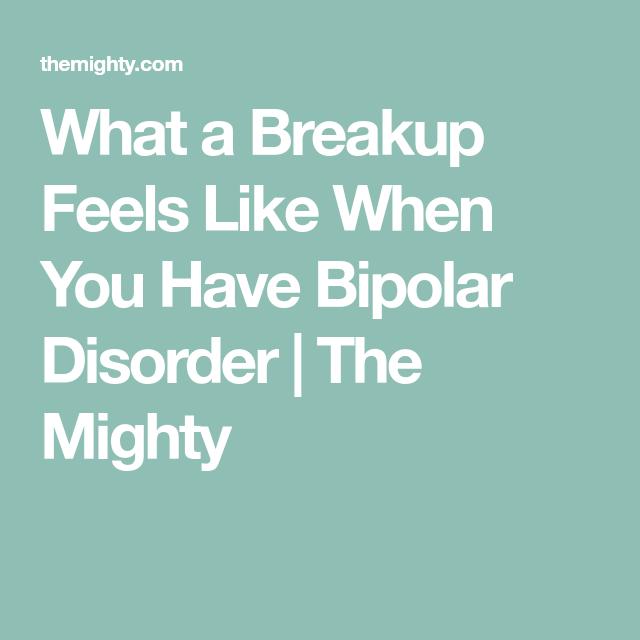 Bipolar breakup