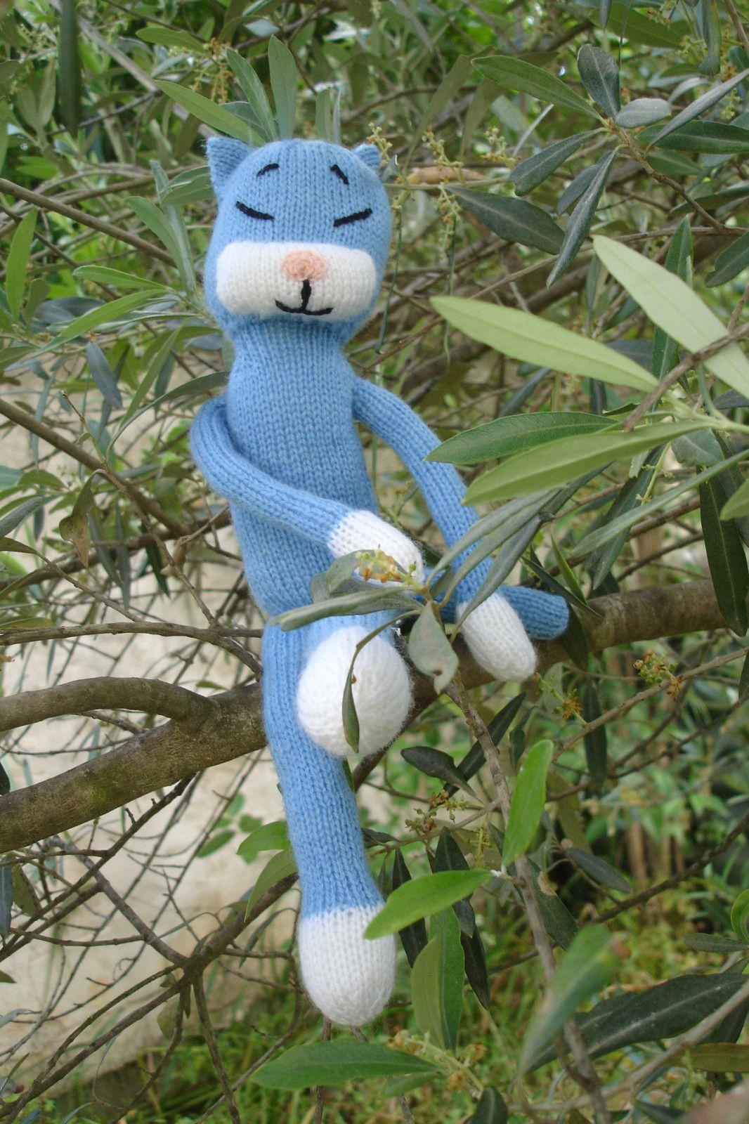 Chat bleu au tricot diy mod le tuto gratuit diy tuto - Chats gratuits ...