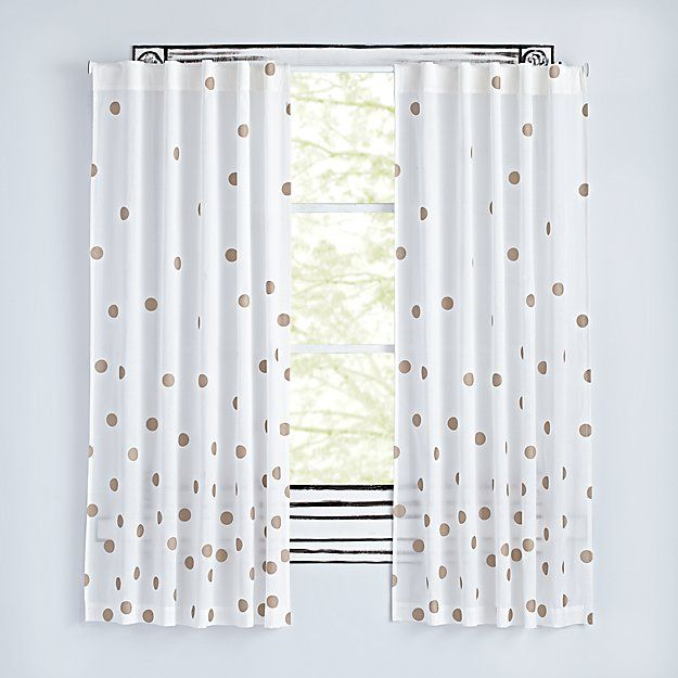 Bronze Dot 96 Curtain The Land Of Nod Polka Dot Curtains