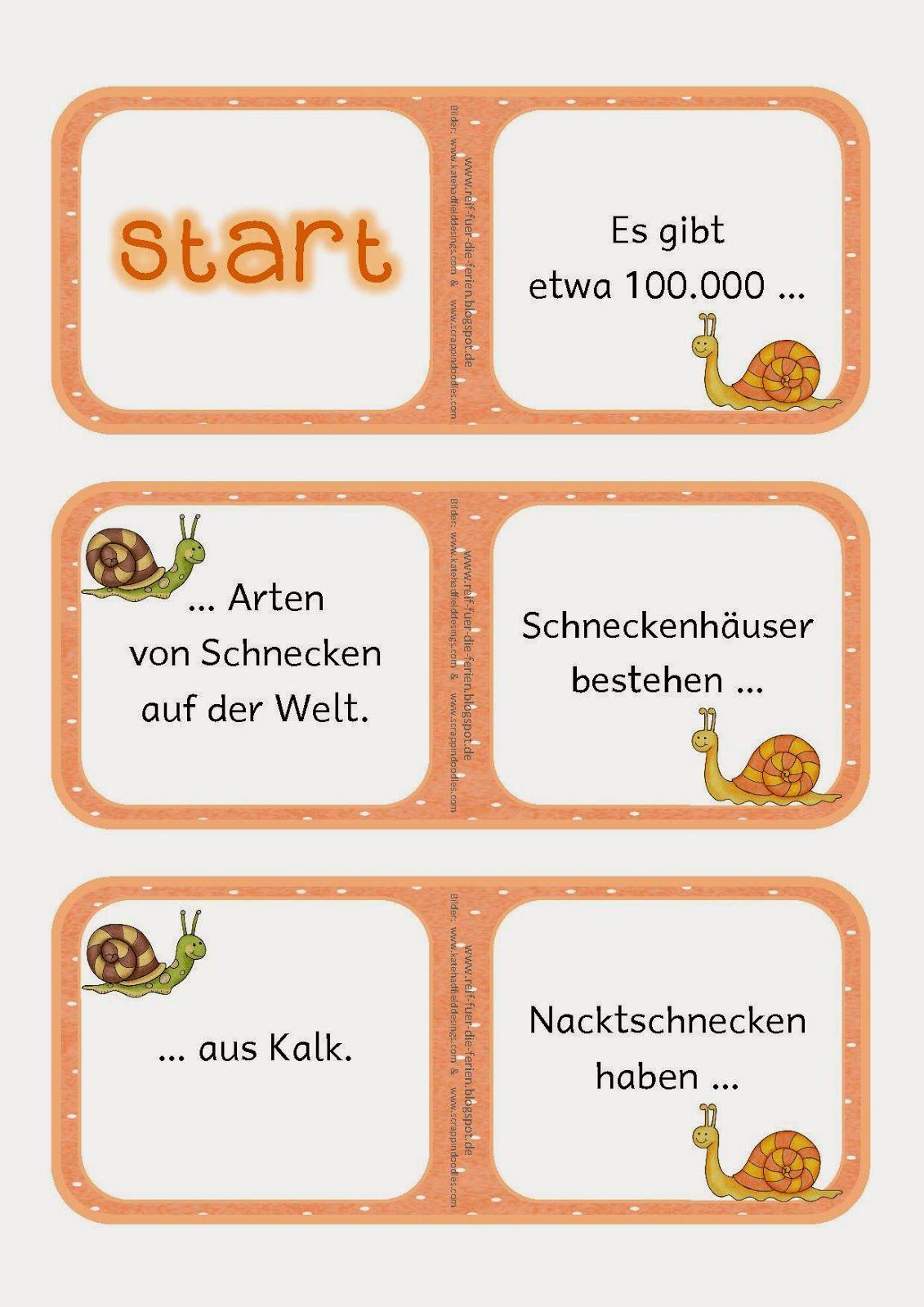 Schnecken-Domino   Schule   Primary school, School und ...