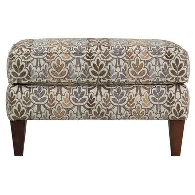 Miami Rectangular Ottoman With Tapered Wood Legs By Kincaid Furniture At  Becker Furniture World