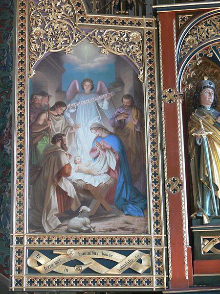 Max Bentele (1825–1893): Geburt Christi. Pfarrkirche St. Pelagius, Weitnau