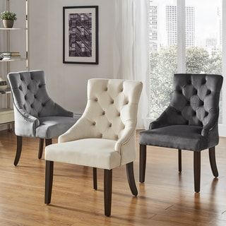 Great Shop For Benchwright II Velvet Button Tufted Wingback Hostess Chairs (Set  Of 2) By INSPIRE Q Bold. Get Free Shipping At Overstock.com   Your Online  ... Nice Look
