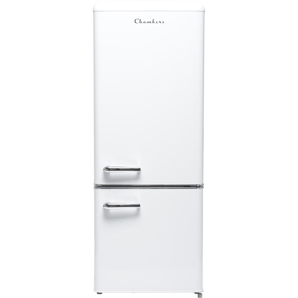 Chambers 57 In H 7 Cu Ft Bottom Freezer Energy Star Refrigerator In Frost White Mrb192 07fw The Home Depot Energy Star Refrigerator Bottom Freezer Bottom Freezer Refrigerator