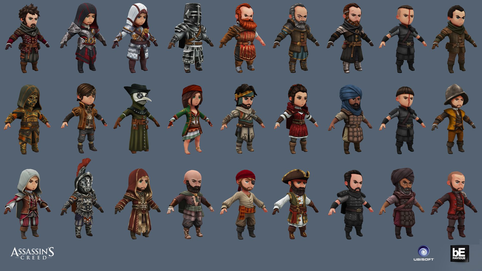 Artstation Assassins Creed Rebellion Characters Eric Bourdages