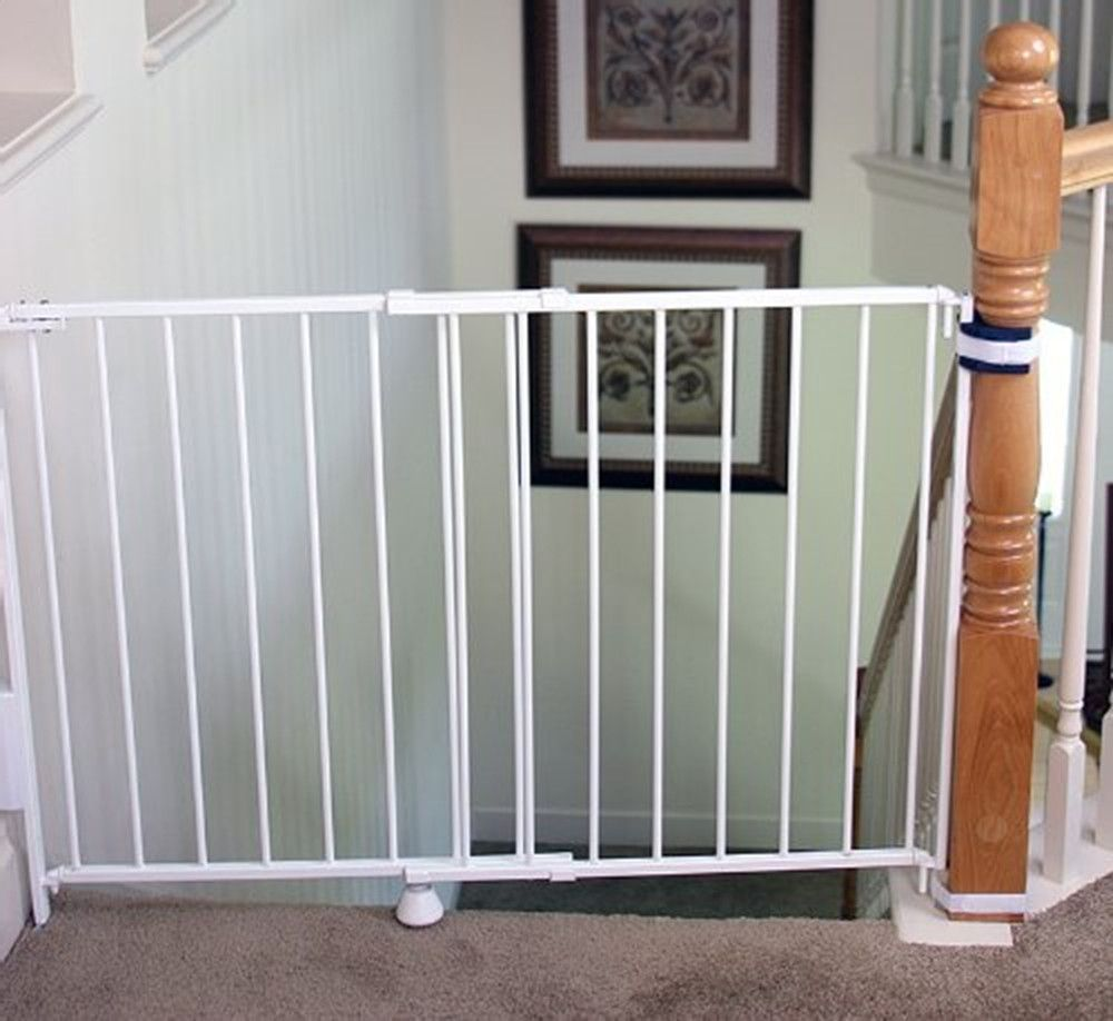 Regalo Top Of Stairs Expandable Metal Gate With Mounting Kit Top Of Stairs Gate Best Baby Gates Wall Mounted Baby Gate
