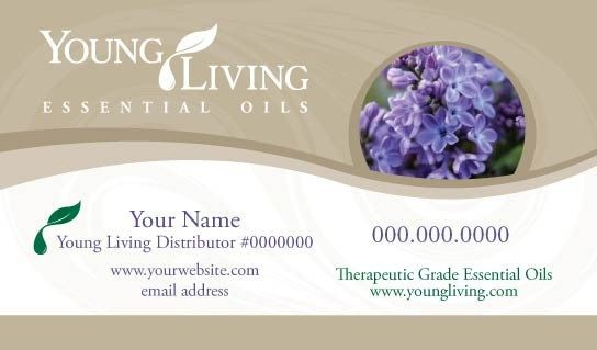 young living business card template