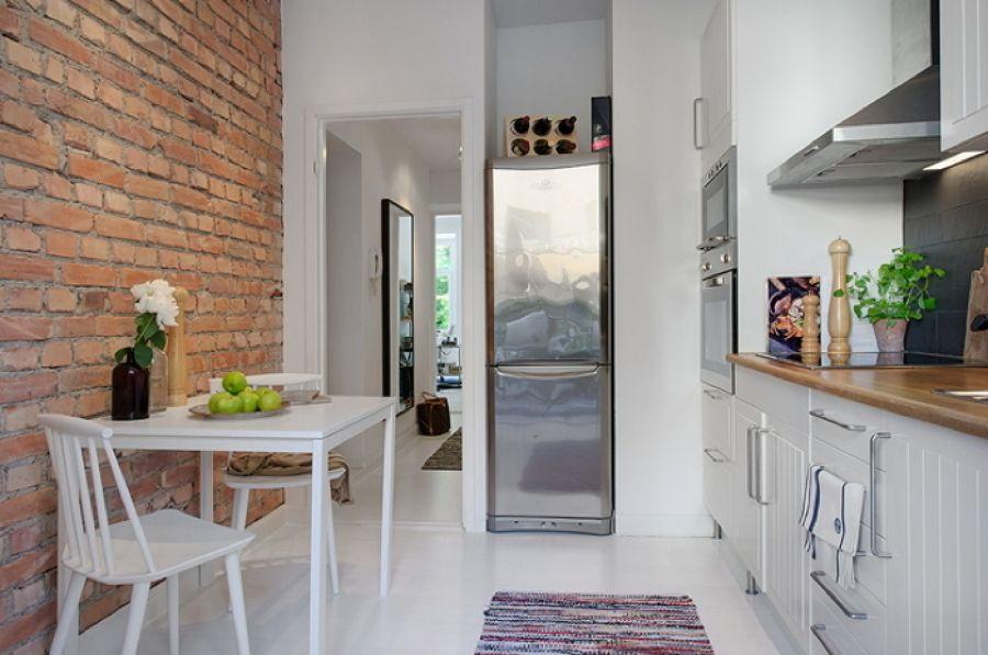 Mesa blanca para la cocina   Mesas cocina   Pinterest   Mesitas ...
