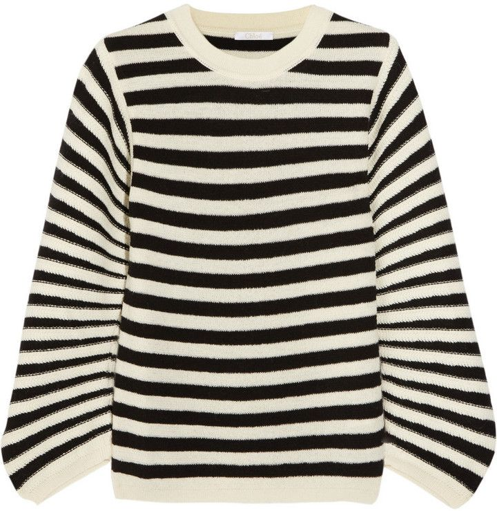 f83609778d Chloé Striped textured-wool sweater on shopstyle.co.uk   I wish, I ...